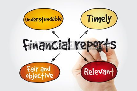 Business: Financial reports mind map with marker business concept backgro #11361