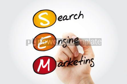 Business: SEM - Search Engine Marketing acronym with marker business conc #11372