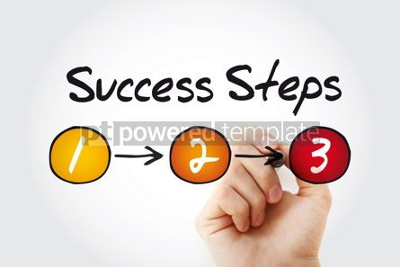 Business: 3 Success Steps business concept with marker presentation backg #11374