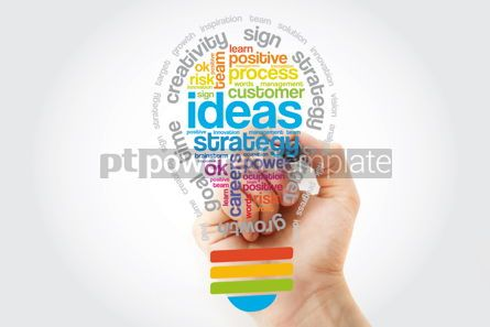 Business: Ideas Sphere Bulb Word Cloud with marker business concept #11377