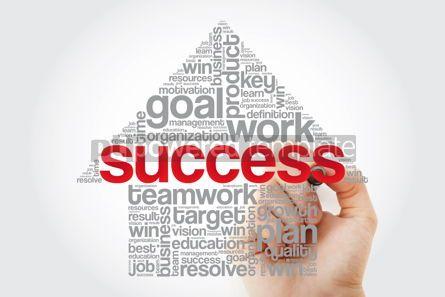 Business: Success Arrow Word Cloud with marker business concept backgroun #11379