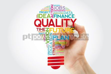 Business: QUALITY bulb word cloud with marker business concept #11384