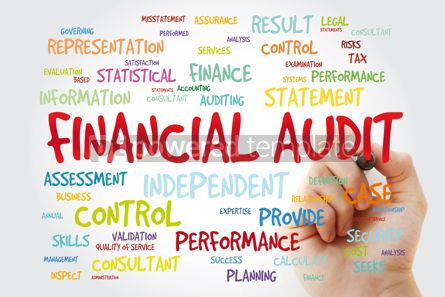 Business: Financial Audit word cloud with marker business concept backgro #11411
