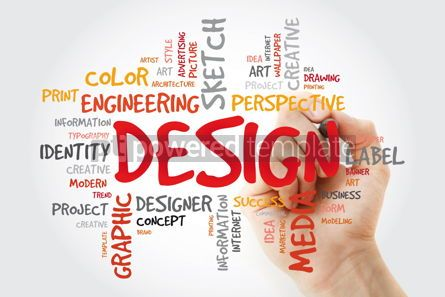Business: DESIGN word cloud with marker creative business concept #11412