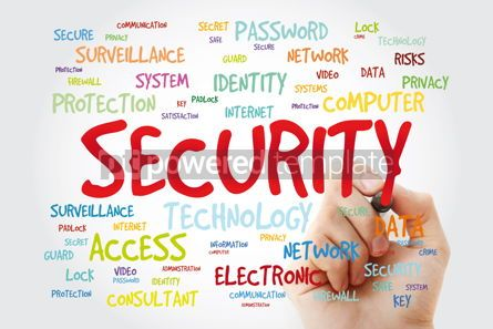 Business: Security word cloud with marker technology concept background #11415