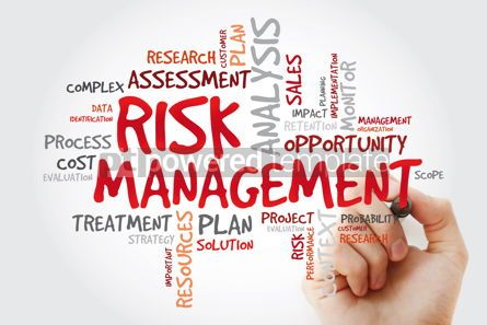 Business: Risk Management word cloud with marker business concept backgro #11417