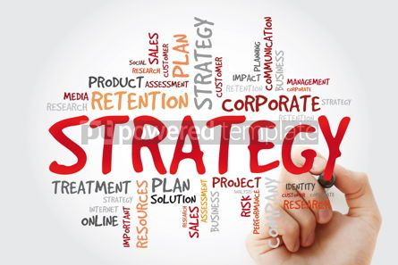 Business: Strategy word cloud with marker business concept background #11420