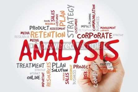 Business: Analysis word cloud with marker business concept background #11422