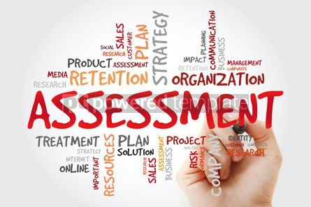 Business: Assessment word cloud with marker business concept background #11425