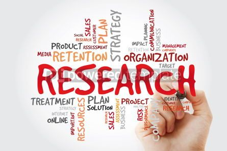 Business: Research word cloud collage with marker business concept backgr #11428