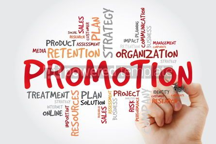 Business: Promotion word cloud with marker business concept #11429