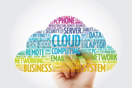 Education: Cloud Computing word cloud with marker technology concept #11430