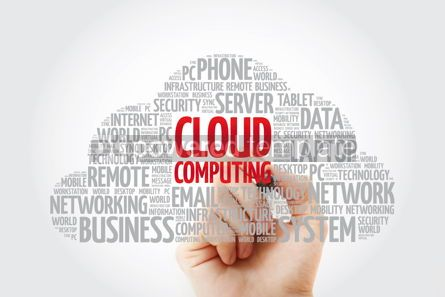 Education: Cloud Computing word cloud collage with marker technology conce #11431