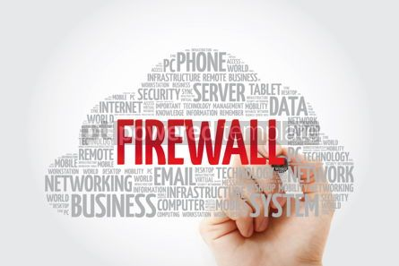Education: FIREWALL word cloud with marker technology concept background #11434