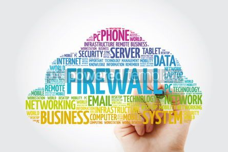 Education: FIREWALL word cloud with marker technology concept background #11435