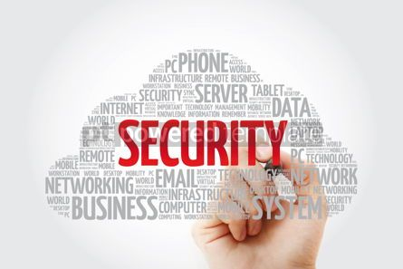 Education: Security word cloud with marker business concept #11436