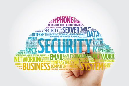 Education: Security word cloud with marker business concept #11437