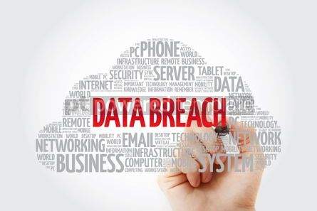 Education: Data Breach word cloud collage business concept background #11440