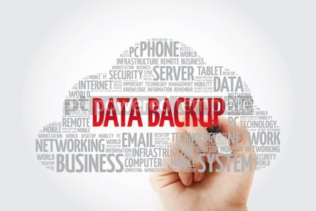 Education: Data Backup word cloud with marker technology concept backgroun #11442