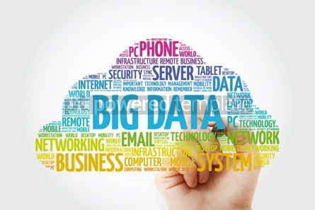 Education: Big Data word cloud with marker technology business concept bac #11445