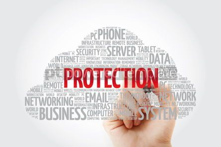 Education: PROTECTION word cloud collage with marker technology concept ba #11454
