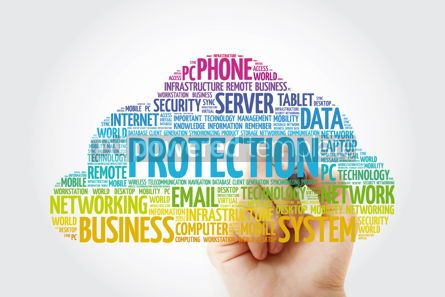 Education: PROTECTION word cloud collage with marker technology concept ba #11455
