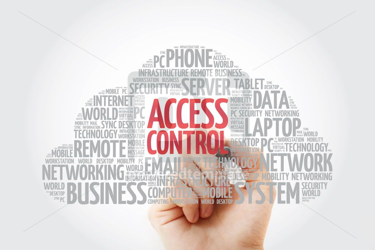 Access control word cloud with marker technology concept backgr, 11460, Education — PoweredTemplate.com