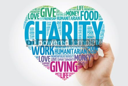 Business: Charity heart word cloud with marker concept background #11466