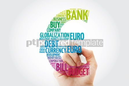 Business: Euro sign word cloud with marker business concept background #11470