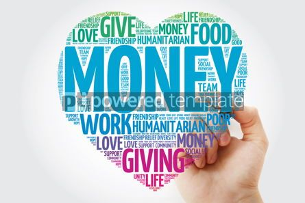 Business: MONEY heart word cloud with marker concept background #11475