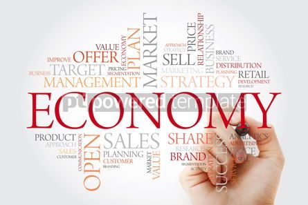 Business: ECONOMY word cloud with marker business concept background #11477