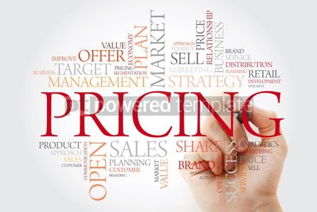 Business: Pricing word cloud with marker business concept background #11478