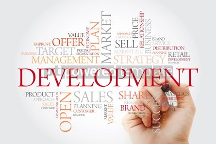 Business: Development word cloud with marker business concept background #11479