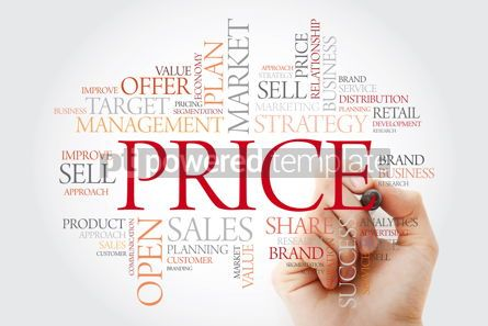Business: PRICE word cloud with marker business concept background #11484