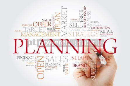 Business: Planning word cloud with marker business concept #11487