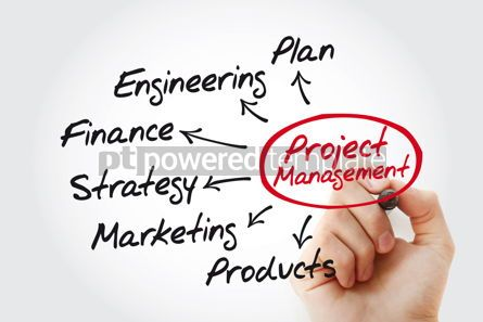 Business: Project management mind map with marker business concept #11492