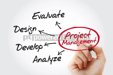 Business: Project management mind map with marker business concept #11497