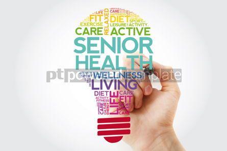 Health: Senior health bulb word cloud with marker health concept #11509