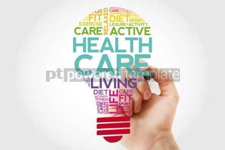 Health: Health care bulb word cloud collage with marker health concept  #11511