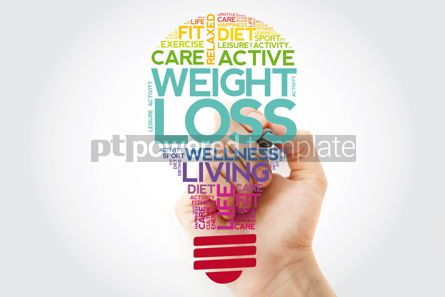 Health: Weight Loss bulb word cloud collage with marker health concept  #11528