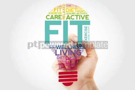 Health: Fit bulb word cloud with marker health concept background #11531