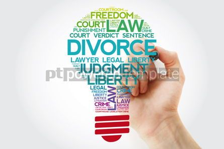 Business: Divorce bulb word cloud collage with marker law concept backgro #11542