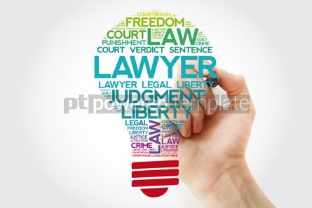 Business: Lawyer bulb word cloud collage with marker law concept backgrou #11548