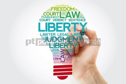 Business: Liberty bulb word cloud collage with marker law concept backgro #11549