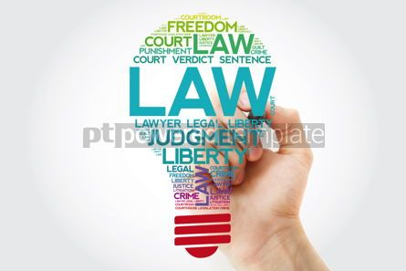 Business: LAW bulb word cloud collage with marker concept background #11550