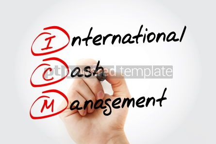 Business: ICM - International Cash Management with marker acronym concept #11551