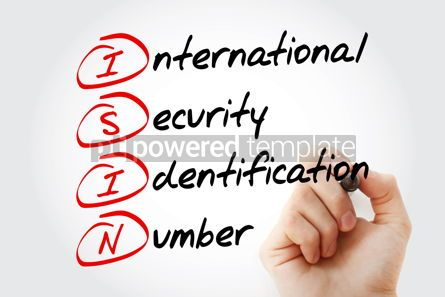 Business: ISIN - International Security Identification Number acronym with #11555