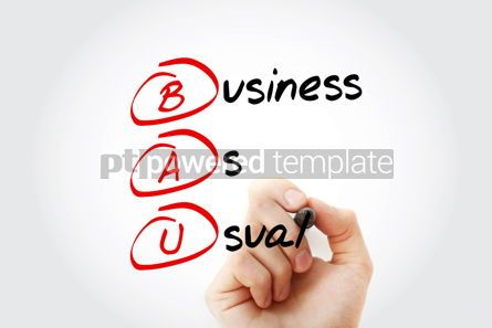 Business: BAU - Business as Usual acronym with marker business concept ba #11556