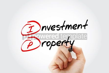 Business: IP - Investment Property acronym with marker business concept b #11557