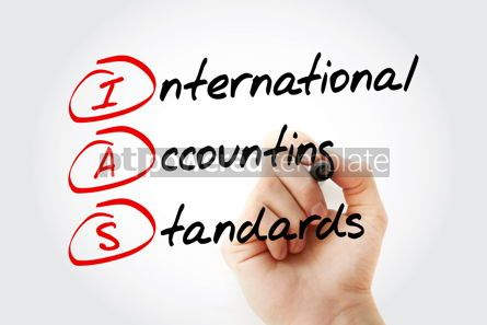 Business: IAS - International Accounting Standards acronym with marker bu #11558